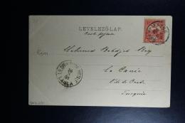 Hungary : Carte Postale 1901  To La Canée - Ungheria