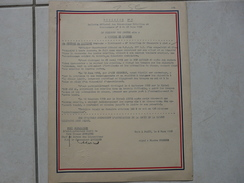Lot11 - Document Militaire - Décision N° 5 Citation à L'Ordre De L'Armée En Algérie - Le 08/03/1960 - Documentos