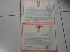 Lot11 - Document Militaire - 2 X Citation Ordre Général Le 11/04/1956 En Algérie - Documenten