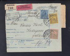 Ungarn Hungary Paketkarte 1914 Nach Galizien Kudrynce Nachporto - Briefe U. Dokumente