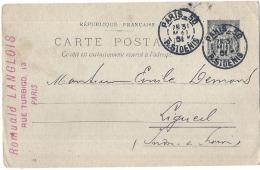 Entier Postal Repiqué Entreprise Langlois - TTB - Cartes Postales Repiquages (avant 1995)
