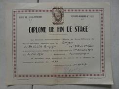 Lot11 - Document Militaire - Diplome Fin De Stage De Saint Maixent L'Ecole Du 15/05/1951 -Fusilier Voltigeur - Documentos
