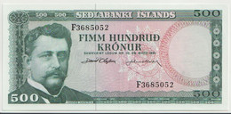 ICELAND P. 45a 500 K 1986 AUNC - Iceland