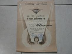 Lot11 - Document Militaire - Brevet Militaire De Parachutiste Le 28/12/1959 - Troupes Aéroportées - Documents