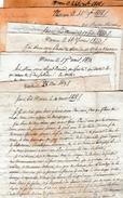 1818/1823 - MACON - 8 Lettres D'un Père à Son Fils étudiant - Conseils - Reproches - Morale Etc. - Documents Historiques