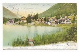LAC CHAMPEX 1904 ILLUSTRATA VIAGGIAAT   FP - VS Valais