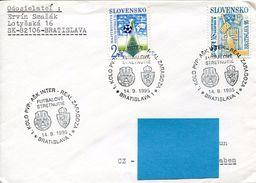 27311 Slovensko, Special Postmark 1995 Football Match  Ask Inter Vs. Real Zaragoza (spain) - Lettres & Documents