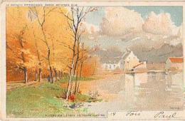 Auderghem   1082         Etang Du Rouge Cloître  (Illustration Franoc, Lith JL Goffard ) - Belgio