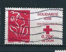 3745 Solidarité Asie Croix Rouge Française Marianne De Lamouche Sans Valeur Oblitéré Timbre France 2005 - France