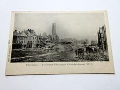 CPA à Dos Non Séparé - Péronne (80) - La Grande Place Après Le Bombardement (1871) - Peronne