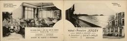 35 - SAINT-MALO - Double Carte Publicitaire - Hotel Pension JERSEY - Saint Malo