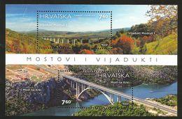 J) 2015 CROATIA, BRIDGE, AND BEAUTIFUL LANDSCAPE, SOUVENIR SHEET, MNH - Croatia