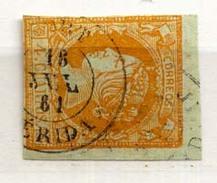 Año 1860 Edifil 52 4c Isabel II  Matasellos Sort Lerida - 1850-68 Königreich: Isabella II.