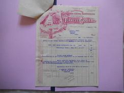 AWOINGT LEZ CAMBRAI MARCEL GODARD MANUFACTURE DE CHICOREE EXTRA SUPERIEURE FACTURE ET COURRIER DU 2 FEVRIER 1942 - Francia