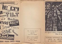 CATHOLIQUE---journée Nationale De La JEC Et JECF --3 Mars 1963---voir 2 Scans - Programmes