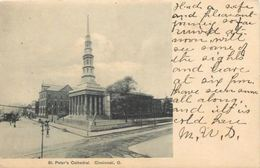 Cincinnati Ohio~St Peters Cathedralon The Corner~Undivided Back~1906 Postcard - United States