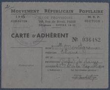 Section De Montrouge. M.R.P.  Mouvement Républicain Populaire. - Collections
