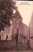 Bézouotte -  Façade De L'église Et Monument Aux Morts - Autres Communes