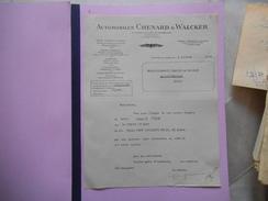 AUTOMOBILES CHENARD & WALCKER GENNEVILLIERS 40 RUE DU MOULIN DE LA TOUR COURRIER DU 5 JUILLET 1938 - Automobile