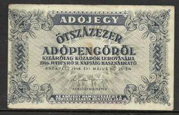 Banknotes > Hungary 1946 (Otszazezer) Pengö Used - Hungary