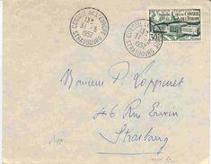 Lettre Du Conseil De L'europe En 1952 - Postmark Collection (Covers)