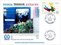 ALGHERIA 2017 Cover St Petersburg Metro Terrorist Attacks - Cancelled Date Of Attacks Terrorism Russia Railways - Enveloppes