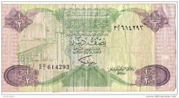 Billet De Banque/Lybie/ Central Bank Of Lybia/1/2 Dinar/19?                   BIL46 - Libye