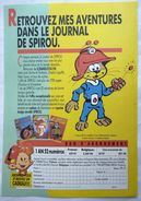 FLYERS JOURNAL DE SPIROU - SCRAMEUSTACHE - GOS 1988 - Oggetti Pubblicitari