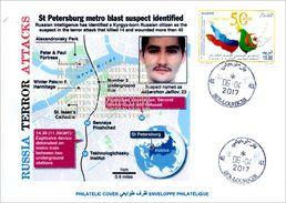 ALGHERIA 2017 Cover St Petersburg Metro Terrorist Attacks Cancelled Date Of Attacks Terrorism Russia Subway Police - Enveloppes