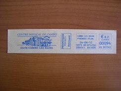 EMA Sur Fragment VA 801545 CAMBO LES BAINS  Avec Illustration CENTRE MEDICAL - Postmark Collection (Covers)