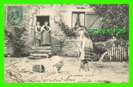 ENFANTS - JEUNE GARÇON ÉCHAPPE UN PANIER DE POMMES - UN ACCIDENT - C. L. C. - CIRCULÉE EN 1905 - - Groupes D'enfants & Familles