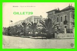 BIZERTE, TUNISIE - HÔPITAL DU SERVICE MARITIME - DRAPEAU DE LA CROIX ROUGE -  ÉCRITE EN 1917 - EDITION E. C. - - Tunisie