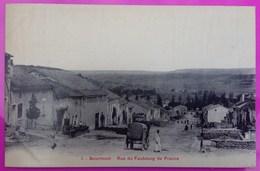 Cpa Bourmont Rue Faubourg France Carte Postale 52 Haute Marne Rare Proche Saint Thiebault Illoud Goncourt Chalvraines St - Frankreich