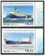 2013  Russia Rußland Rusland Russie Rusia Marine Fleet Ships  2v. SET Mi 1933-1934 MNH ** - Navi Polari E Rompighiaccio