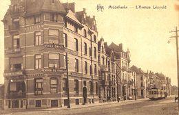 Middelkerke - L'Avenue Léopold (tram, Tramway, Star, Villa Emilie 1926, Helio Art Bichrome De Graeve) - Middelkerke