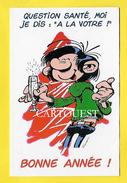 FRANQUIN Gaston Lagaffe BONNE ANNEE QUESTION SANTE MOI JE DIS A LA VOTRE - Comics