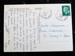 MAISON DU BOIS - DOUBS - CACHET ROND MANUEL SUR MARIANNE CHEFFER - VILLERS LE LAC - Marcophilie (Lettres)