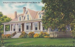 Georgia Macon Birthplace Of Sidney Lanier Georgia's Poet