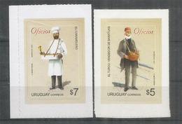 URUGUAY: EL CARAMELERO / CANDYMAN  & EL VENDEDOR DE BARATIJAS. 2 Timbres Neufs ** Adhésifs - Uruguay