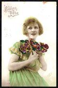 Jeune Femme Avec Fleurs - Circulé - Circulated - Gelaufen - 1923. - Femmes