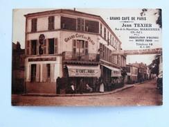 C.P.A. 17 MARENNES : Grand Café De Paris, Jean Texier, Rue De La République - Marennes