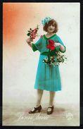 Jeune Femme Avec Fleurs Et Ruban Dans Les Cheveux - Circulé - Circulated - Gelaufen - 1924. - Femmes