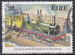 Ireland (1984):- Irish Railway's 150th Anniv./Princess (23 P):- USED - Used Stamps