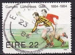 Ireland (1984):- Gaelic Athletic Assoc. Centenary/Hurling (22 P):- USED - Used Stamps