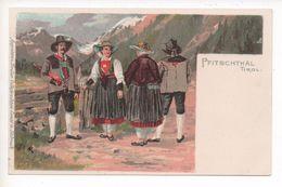 T  TIROLER TRACHTEN - PFITSCHTHAL   ~  1898  KÜNSTLER LITHO - Austria