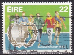 Ireland (1985):- International Youth Year/Young People (22 P):- USED - Used Stamps