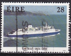 Ireland (1986):- B & I 150th Anniv./M. V. Leinster (28 P):- USED - Used Stamps