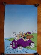 Reproduction - Affichette De Bande Dessinée Ancienne Popeye - Art Populaire