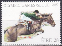 Ireland (1988):- Olympic Games Seoul/Showjumping (28 P):- MNH - Unused Stamps