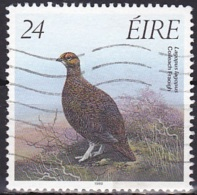Ireland (1989):- Flora & Fauna 12th Series/Game Birds/Red Grouse (24 P):- USED - Used Stamps